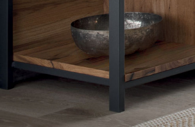 Ripiano legno per Struttura metallo portalavabo - loetrà