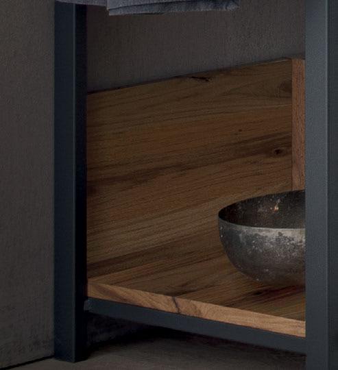Schienale legno per Struttura metallo portalavabo loetrà