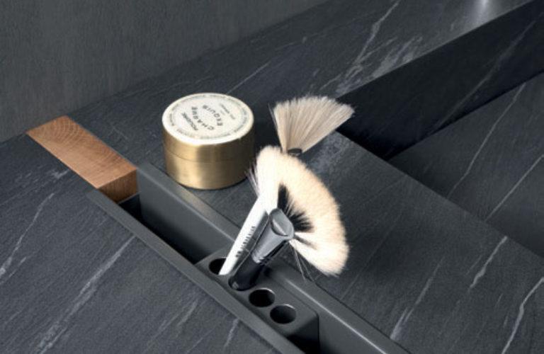 Portaoggetti Round in metallo finitura Titanio - loetrà