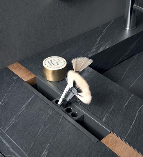 Portaoggetti Round in metallo finitura Titanio loetrà